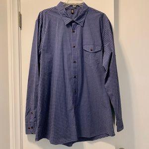 Men's Checkered Button Down Shirt